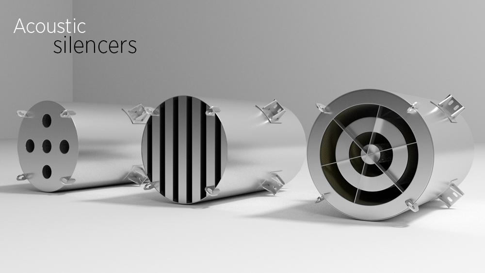 Acustic silencers