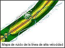 Mapa de ruido de la línea de alta velocidad