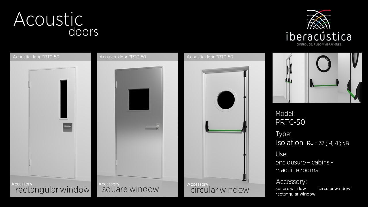 Puerta acustica PRTC50